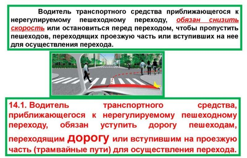 Ответственность за наезд на пешехода на пешеходном переходе