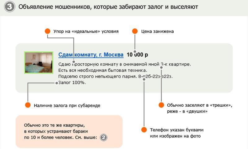 Примеры мошенничества при сдаче квартиры