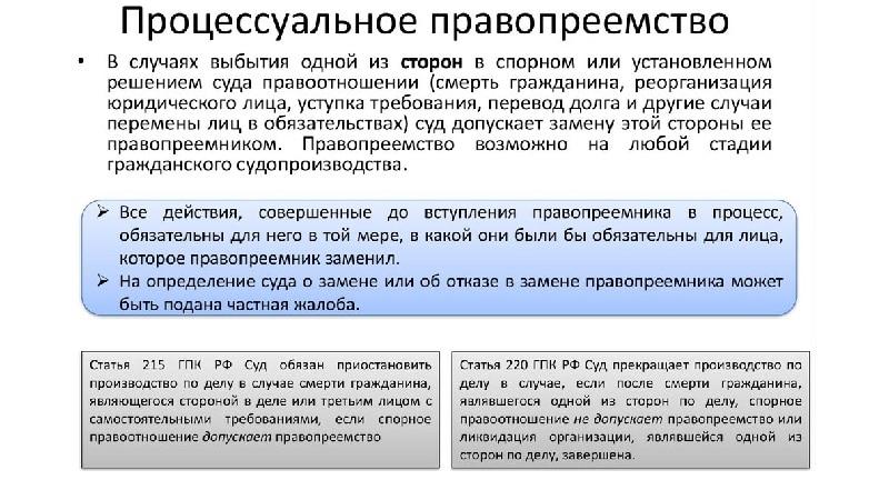 Что понимается под универсальным правопреемством в ГК РФ